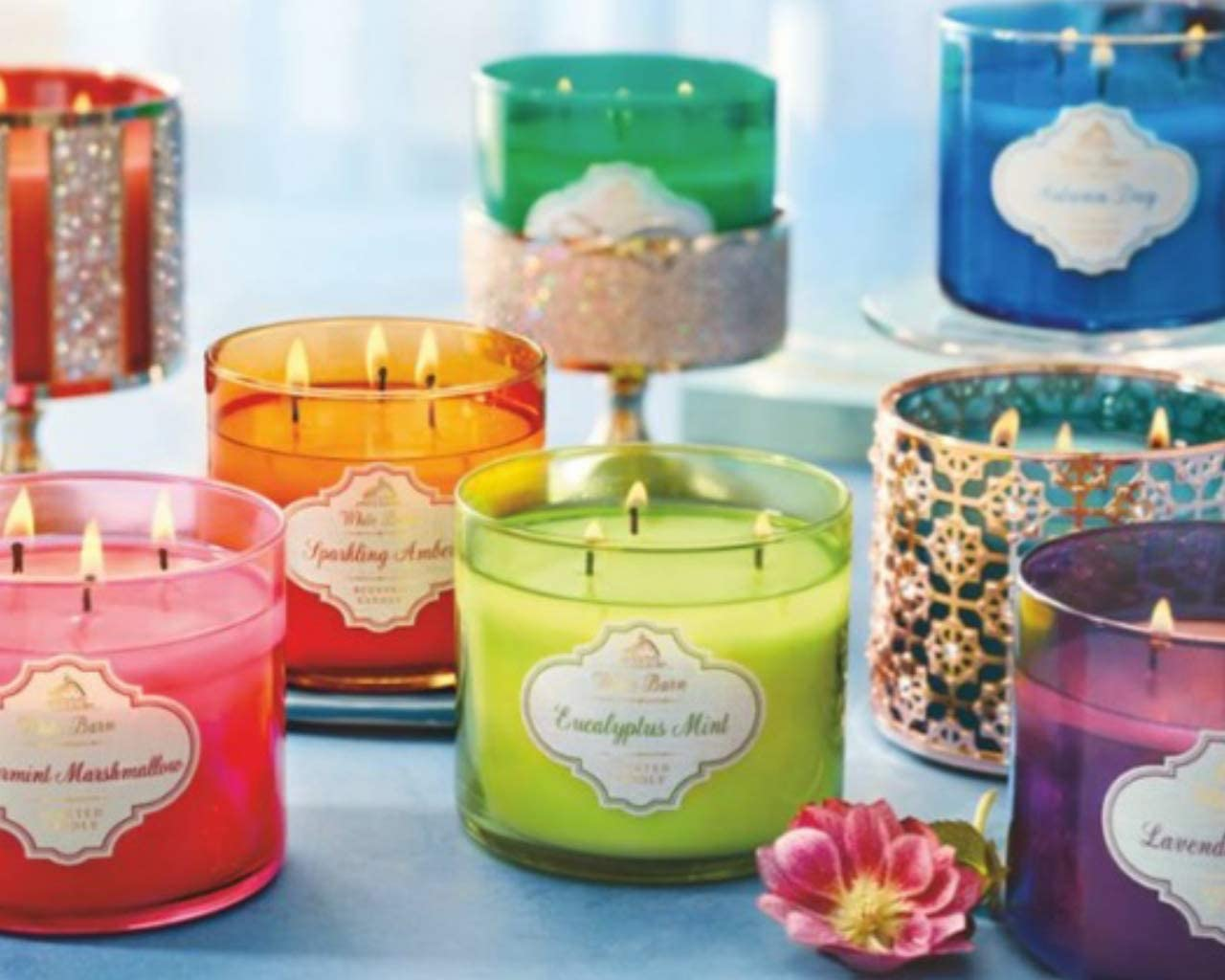 1 Bath /& Body Works WINTER DAISY 3-Wick Candle Large