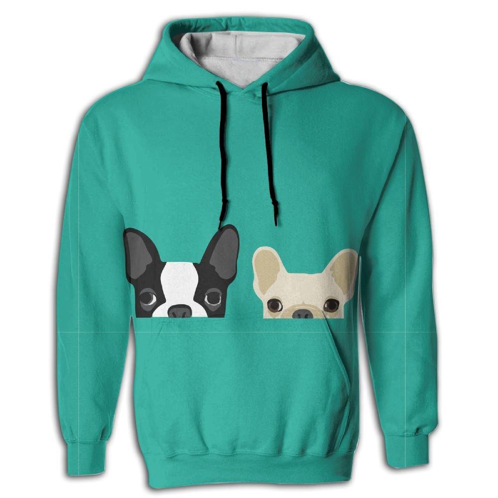 FUSALIN Cute DogUnisex 3D Printed Sweatshirt Casual Pullover Hoodie With Big Pockets