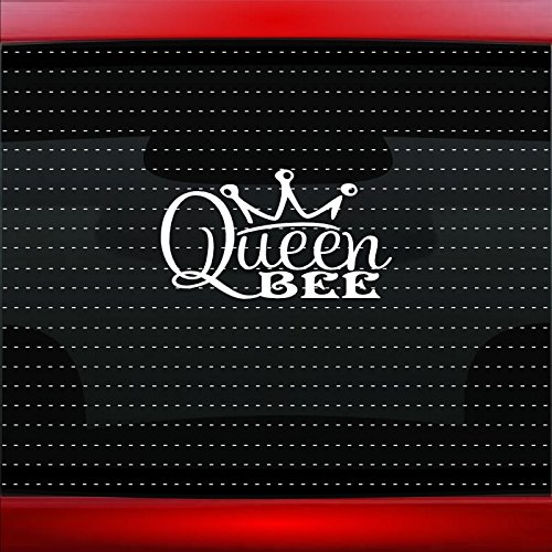 Queen Bee Cute Funny Princess Family Mom Car Sticker Truck Window Vinyl Decal COLOR: WHITE