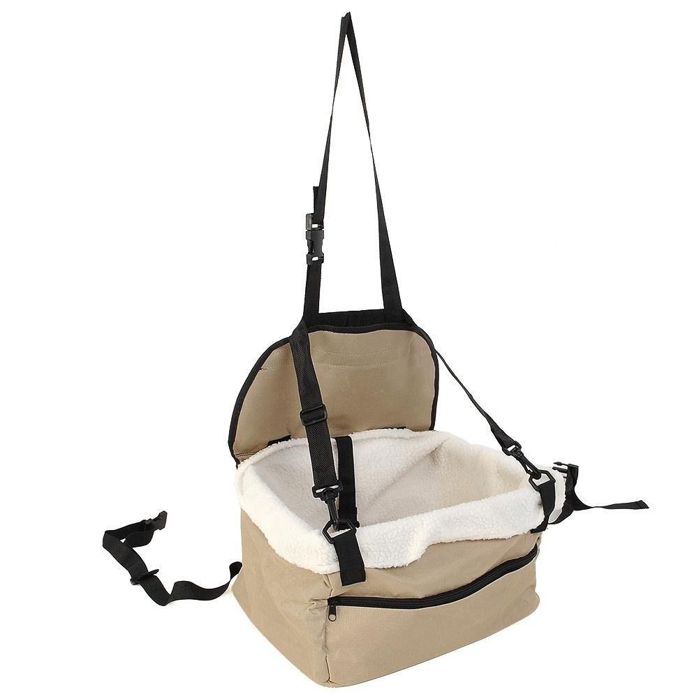 Kicode Portable Dog Car Booster Seat Pet Supply Travel Foldable Safety Adjustable Strap Basket Color Random