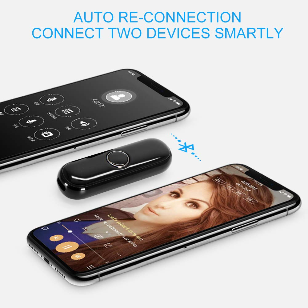 ULBRE Wearable Low Latency Audio Receiver w Clip n Microphone Answer Call ULBREQIAO Sport Headset Wireless Portable 3.5mm Aux Kit for Earphone Speaker BT Adapter Bluetooth Dongle for Headphones Stereo Car