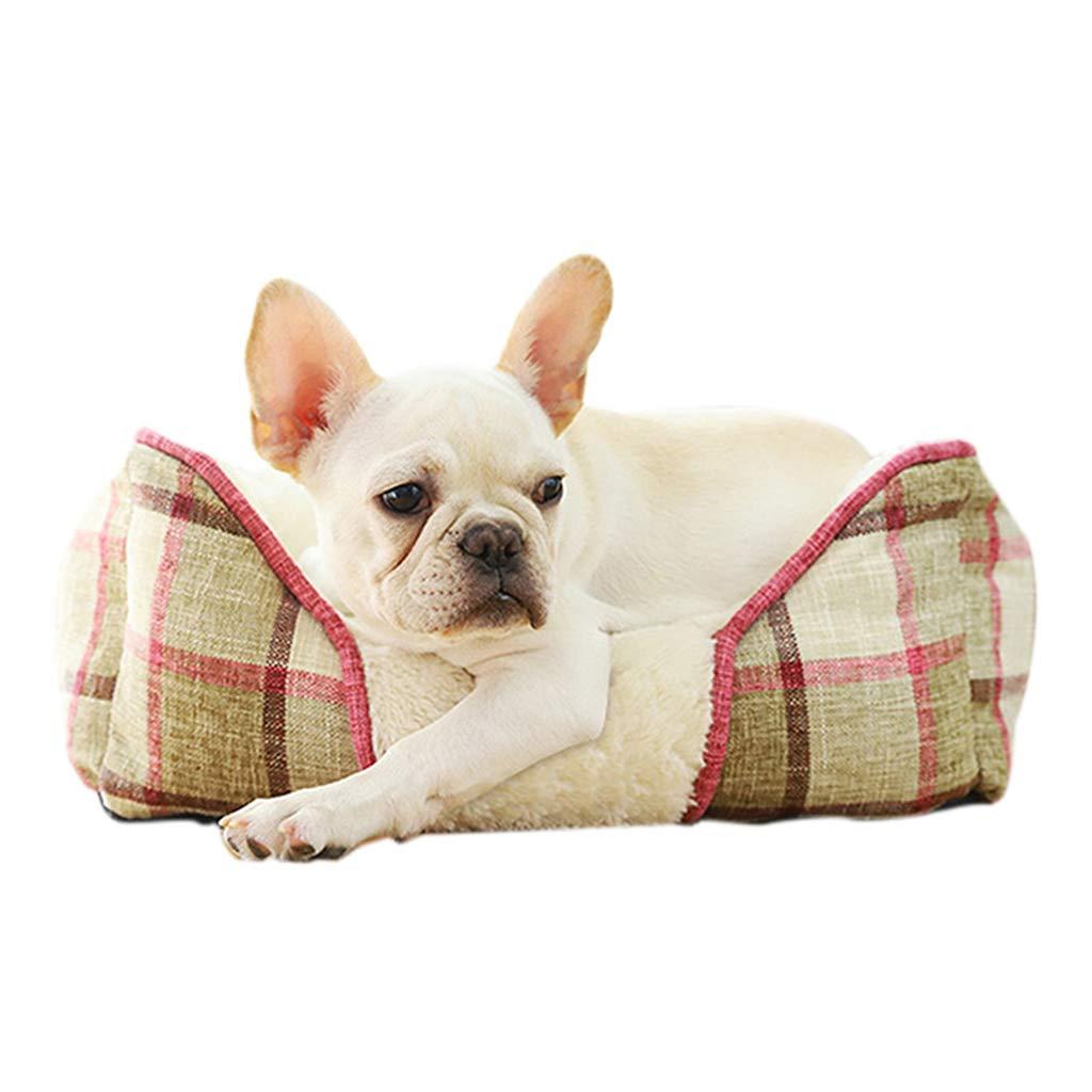 Beige Medium Beige Medium Pet Cushion Dog Bed Mat House Soft Warm Kennel Dog Mat Blanket Fully Removable and Washable Pet Sleep Mat Nest for Small Medium Large Dogs,Beige,M