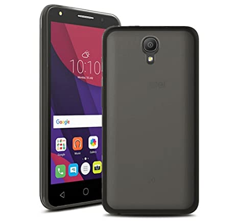 Tumundosmartphone Funda Gel TPU Color Negra para Orange Rise 51 / ALCATEL PIXI 4 (5