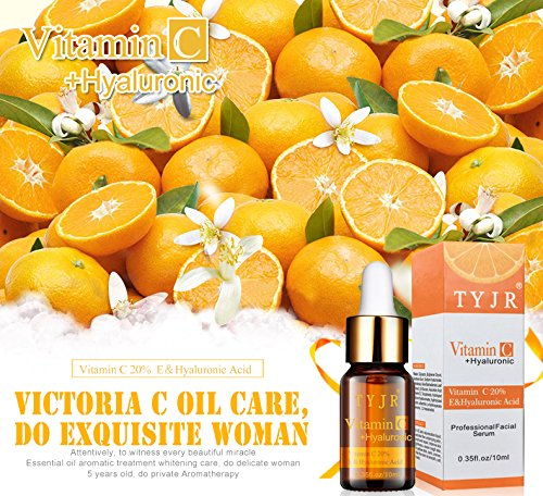 Amazon.com: TYJR Vitamin C Serum for Face, Topical Facial Serum with Hyaluronic Acid & Vitamin E: Beauty