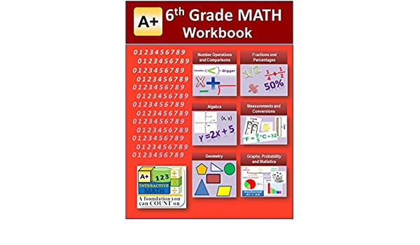 6th Grade Math Workbook (Printed B&W Plasti-coil bound) (129 ...