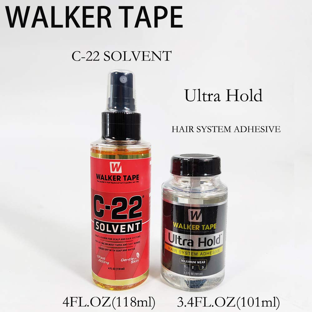 3.4FL OZ Ultra Hold Glue & 118ml C-22 Hair Solvent Tape Adhesives Remover For Lace Wig/Toupee/Closure/Tape Extension by Onstyle