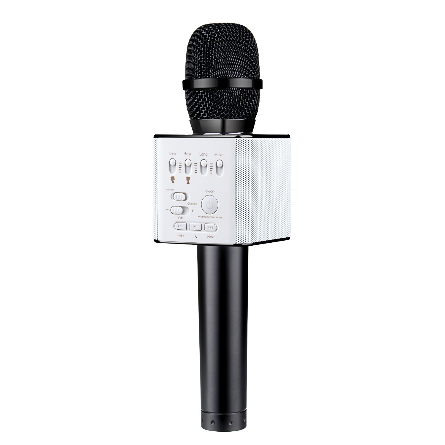Mugig Bluetooth Karaoke Microphone, Wireless Bluetooth Music Player Multifunctional Microphone for Singing, One Key for Voice Changing, U Disk Music Playing