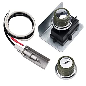 X Home 91360 Grill Igniter Kit Replacement for Weber Spirit E-200 S-200 E-210 S-210, Spirit E-310 S-310 E-320 S-320, Spirit 700, with 2 Push Buttons & Metal Spark Box Spark Generator Ignitor Electrode