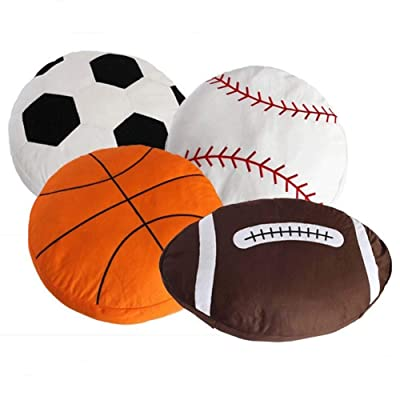 HOUTBY Football Pillows Breathable Baby Doll Toys Sport DIY Cushion Pillows Gifts for Kids: Toys & Games