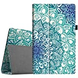 Fintie Folio Case for All-New Amazon Fire HD 10 (Compatible with 7th and 9th Generations, 2017 and 2019 Releases) - Premium PU Leather Slim Fit Stand Cover with Auto Wake/Sleep, Emerald Illusions