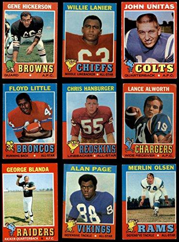 Card Topps Football 1971 (1971 Topps Football Near Complete Set (Football Set) Dean's Cards 3 - VG)