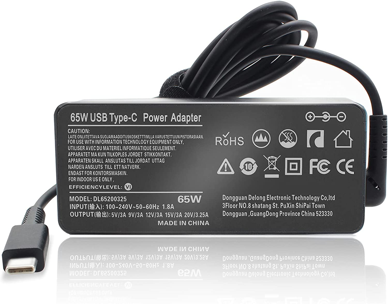 65W USB-C Type-C Laptop Charger for HP Chromebook X360 14-DB 14-DA 14-CA Series 14-db0020nr 14-db0023dx 14-db0025nr 14-db0031nr 14-db0043wm 14-db0051cl 14-da0011dx 14-da0012dx 14-ca061dx 14-ca003cl