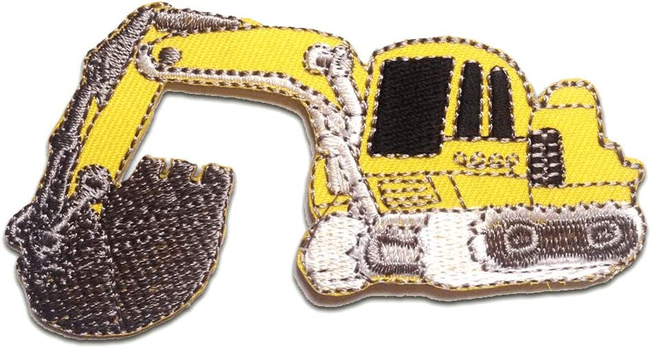 Parches - Excavadora coche niños - amarillo - 9.7x5.2cm ...