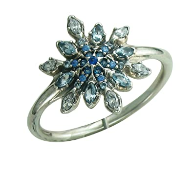 0e3c0bcdc Pandora Crystallized Snowflake Ring 190969nblmx-48 Size 4.5: Amazon.co.uk:  Jewellery