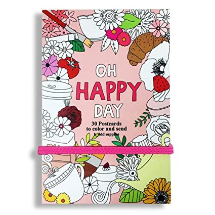 Amazon oh happy day postcard coloring book 30 postcards 4x6 image unavailable m4hsunfo