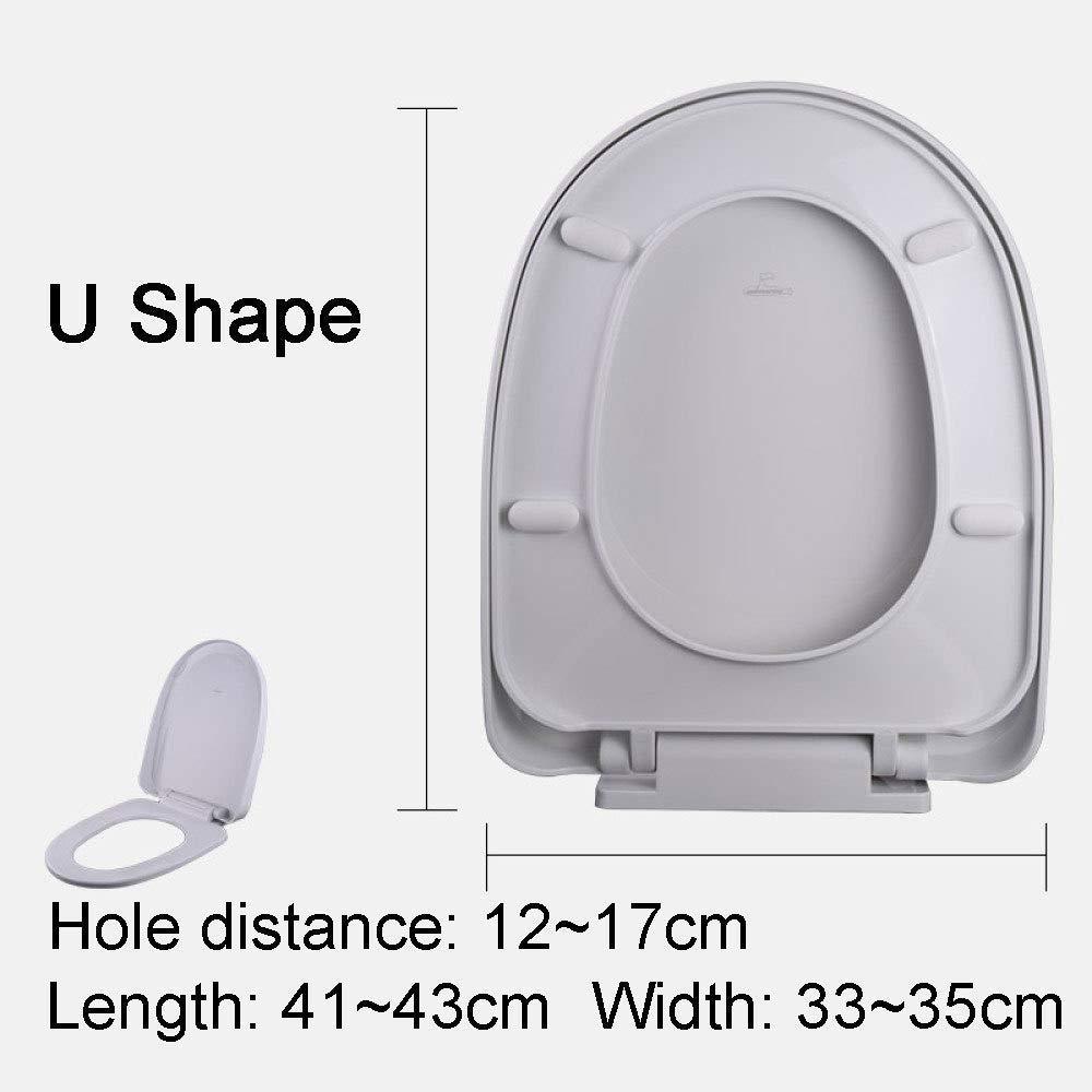 Size : 41~43X33~35cm Toujours Adapt/é for Ne Jamais Glisser Le Si/ège De Toilette Si/ège De Toilette De Haute Qualit/é Charni/ère Stable