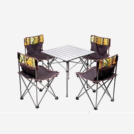 Ajustable Mesas y sillas Plegables Silla de Mesa de Picnic ...