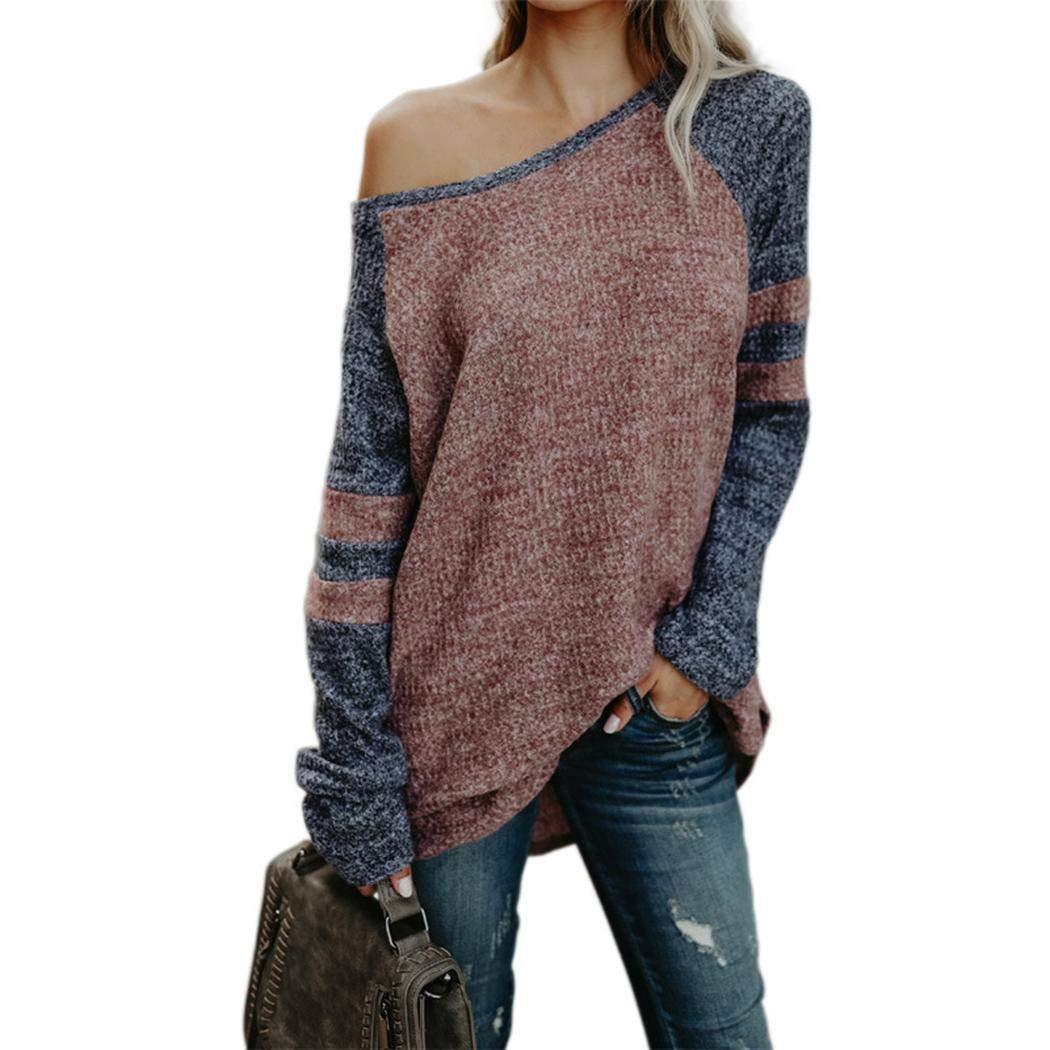 Kizaen Women's Casual Long Sleeve Round Neck Loose Tunic Sweatshirt Tops