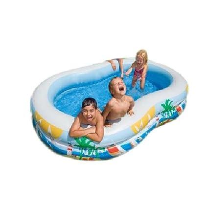 Amazon.com: Ovalada piscina inflable para niños Piscina ...