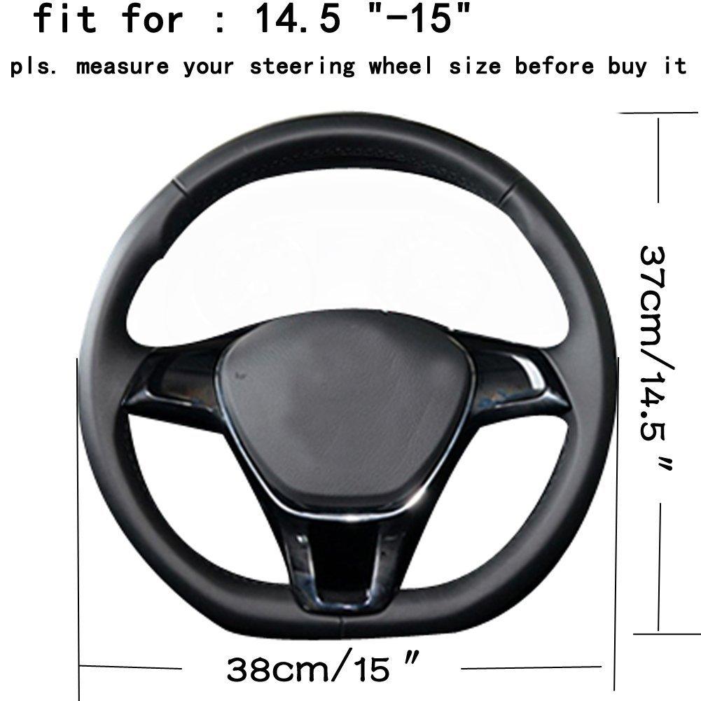 15 HCMAX D Typ Fahrzeug Lenkradabdeckung Auto Lenkradschutz D-Form Durchmesser 38cm