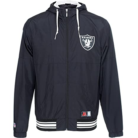 Majestic Oakland Raiders Perforated Wind Runner NFL Chaqueta Negro X-Small 687b46a0528