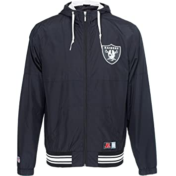Majestic Oakland Raiders Perforated Wind Runner NFL Chaqueta ...