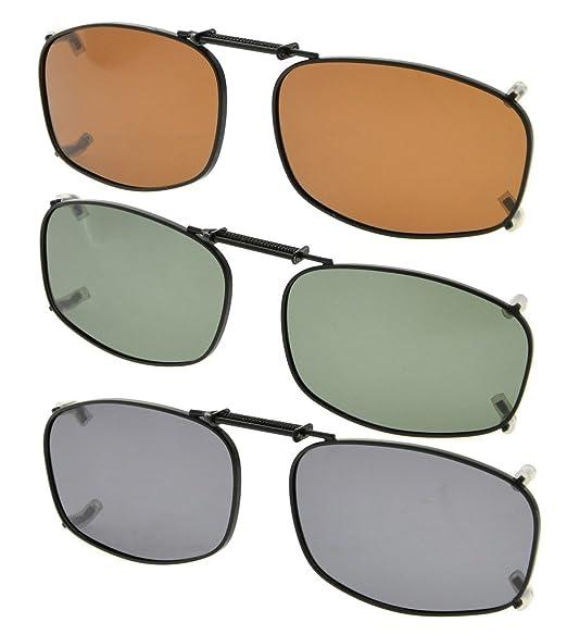 b37196590 Eyekepper Gris/marrón/G15 lente 3-Pack clip-en gafas de sol polarizadas  50x31mm: Amazon.es: Ropa y accesorios
