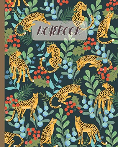 Notebook: Leopards in Jungle - Lined Notebook, Diary, Track, Log & Journal - Gift Idea for Kids, Teens, Men, Women (8