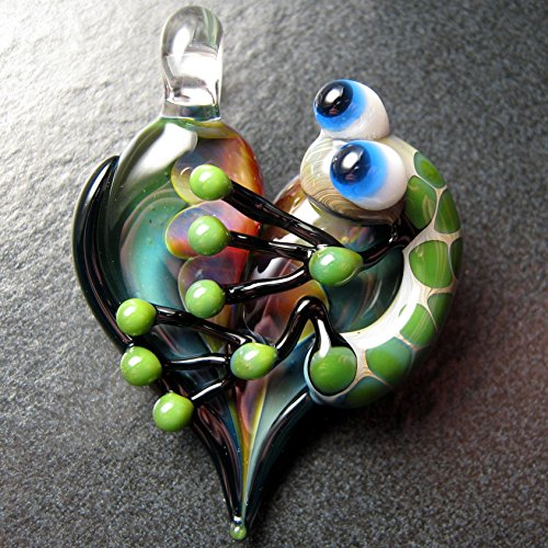 Heart Focal Bead - Awesome Frog pendant - Glass frog heart necklace lampwork pendant focal bead - Boomwire Glass jewelry