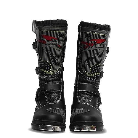 ZZKK Impermeabile Stivali Moto in Pelle Professionale