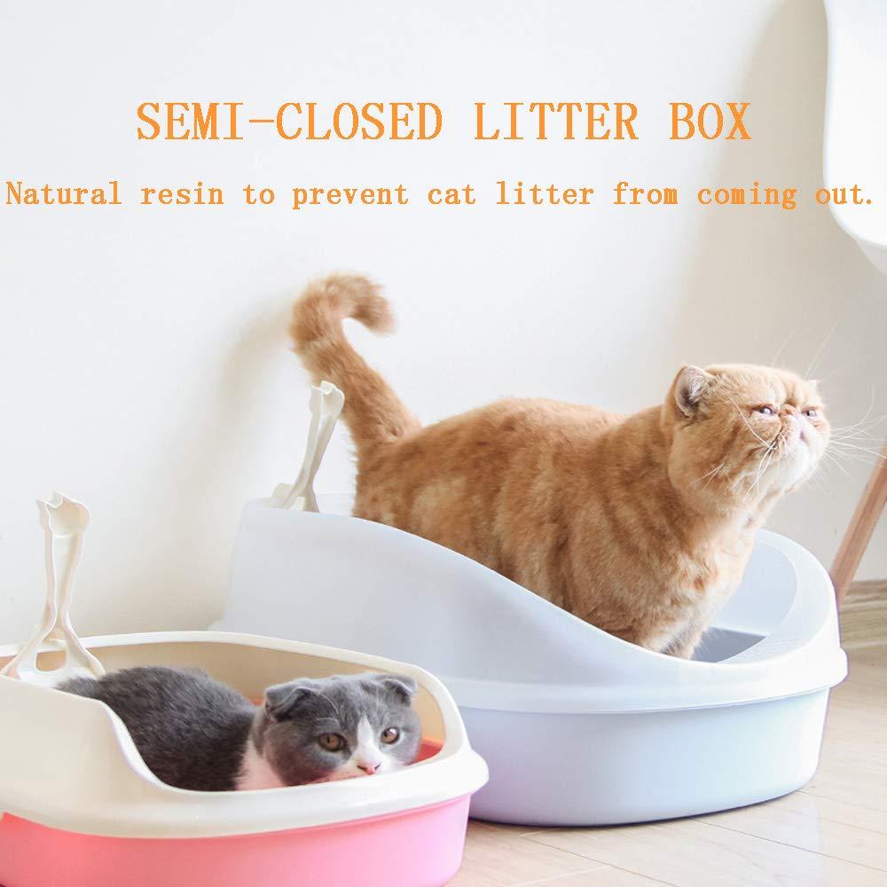 BESTUNE Pantalla para Gatos Cat para Mascotas Gato para la Basura Compartimento de baño Alto Compartimento Lateral para el Inodoro para Mascotas latas de ...