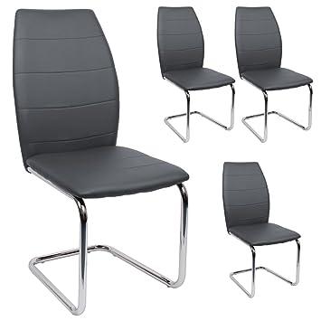 Stühle modern  SVITA Esszimmerstuhl 4er Set Stühle modern Freischwinger ...