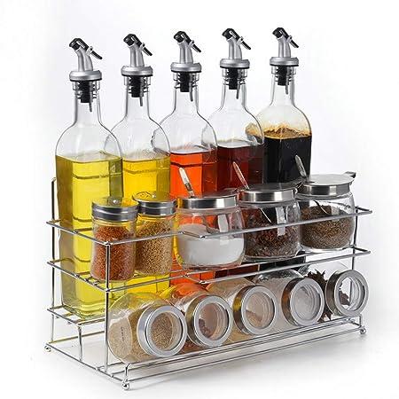 Accessori Per Mensole In Vetro.Cl Set Di Scatole Per Condimenti Accessori Per La Cucina