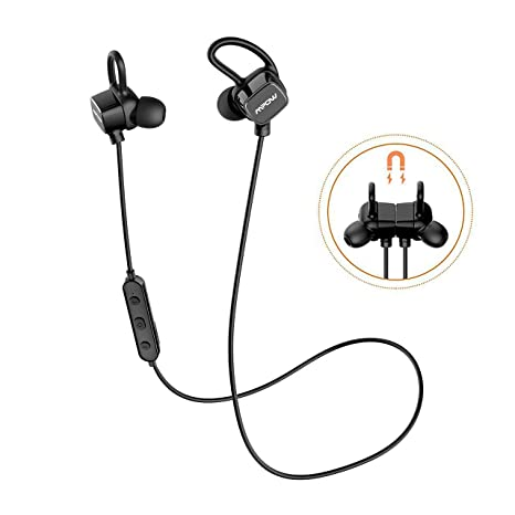 Mpow Auriculares Bluetooth Magnéticos, S3 Inalámbricos In-Ear Cascos Deportivos Resistente al Agua IPX6