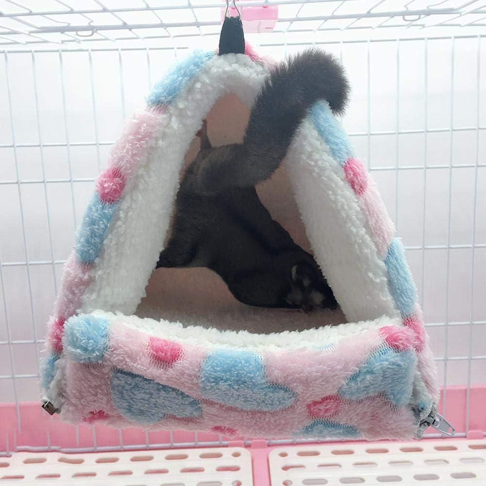 Hete-supply Hamster Hammock Hanging Bed Chinchillas Rabbit Small Pet Bed Detachable Sleeping Bag Hamster Nest House Upgraded Warm Cotton Nest