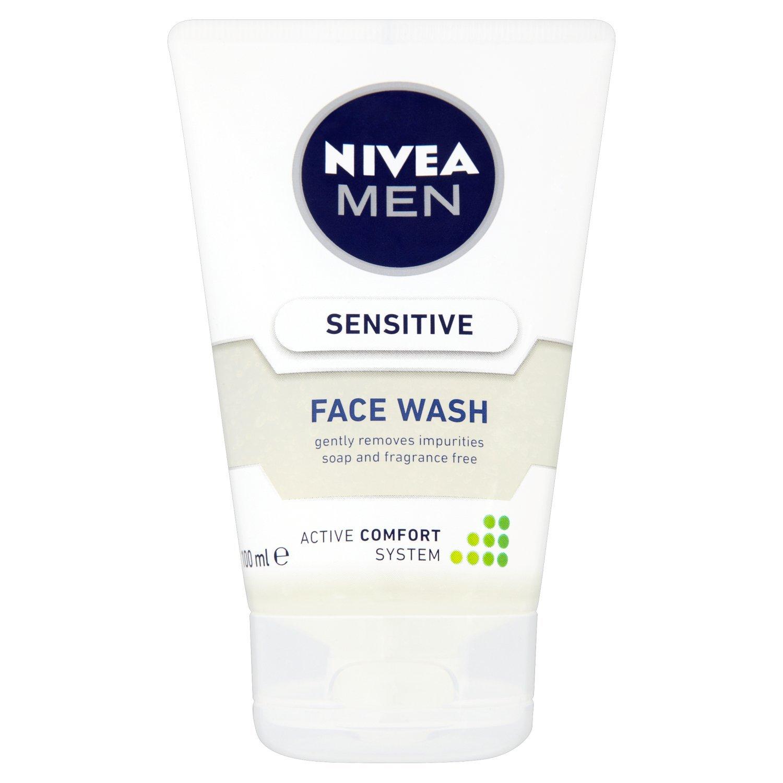 NIVEA MEN Sensitive Face Wash with Zero Percent Alcohol, 100 ml, Pack of 3 Beiersdorf UK Ltd. 88875