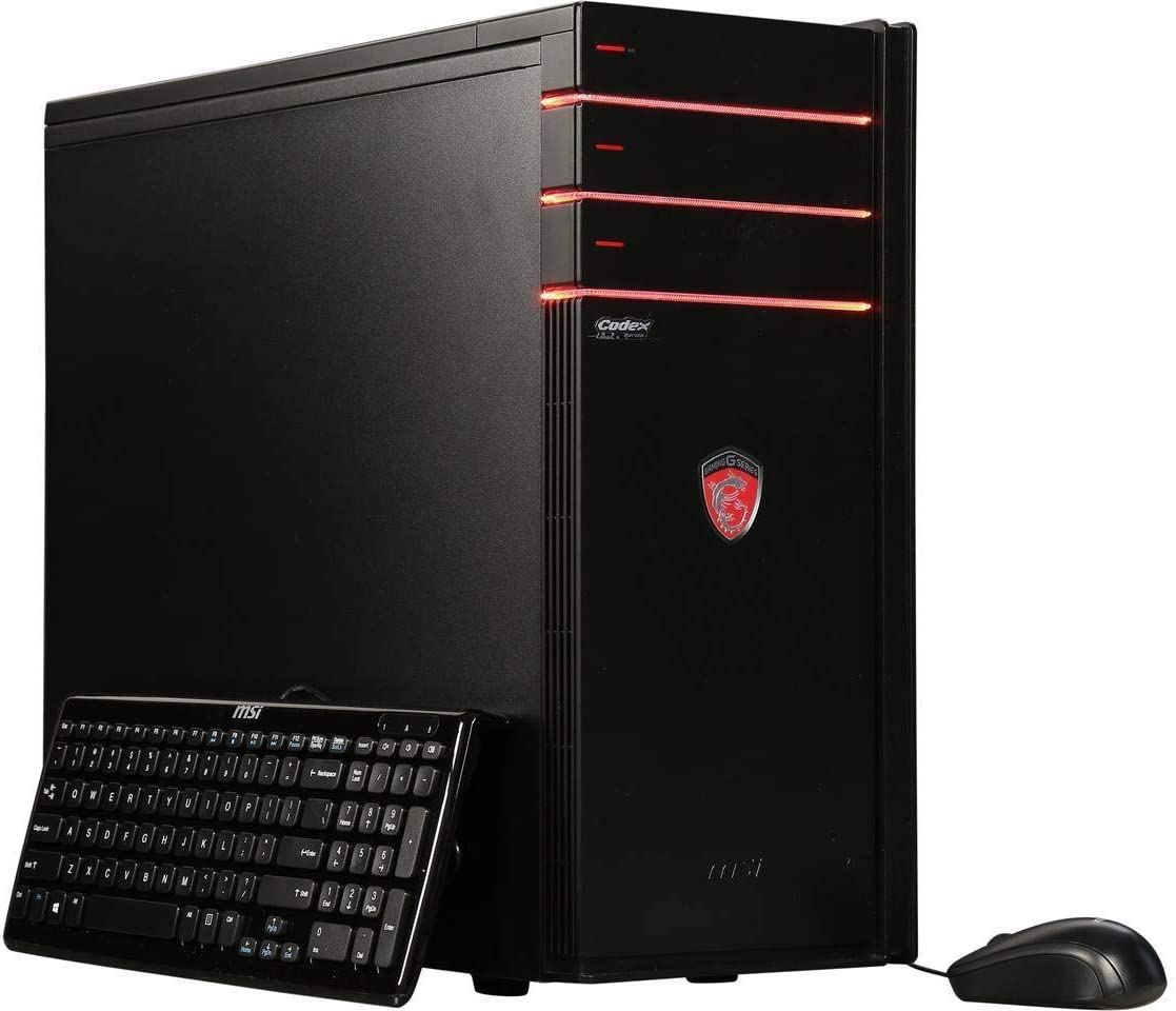 MSI Codex XE Gaming Desktop Intel Core i7 16GB RAM 2TB HD 512GB SSD - 8th Gen Intel Core i7-8700 and NVIDIA RTX 2070 with 8GB GDDR6 - DVD SuperMulti – Air Cooling - Nahimic Audio - Windows 10 Home