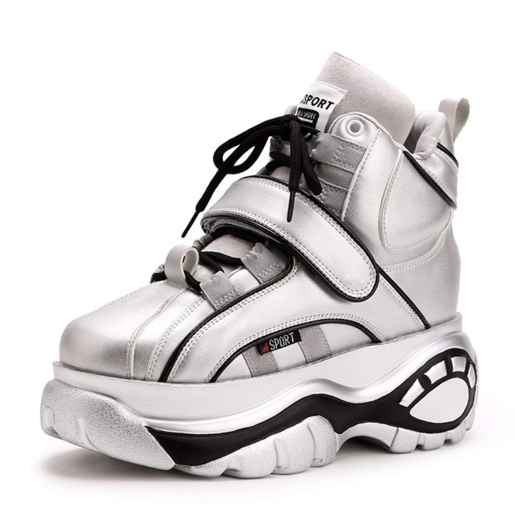 LIANGXIE Damenmode erhöht Sneakers Casual Plattform Damenschuhe Keil mit niedrigen 8cm Damenschuhe erhöht