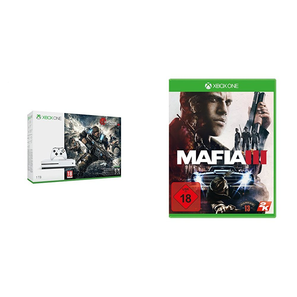 Xbox One S 1tb Konsole Gears Of War 4 Bundle Mafia Iii Games