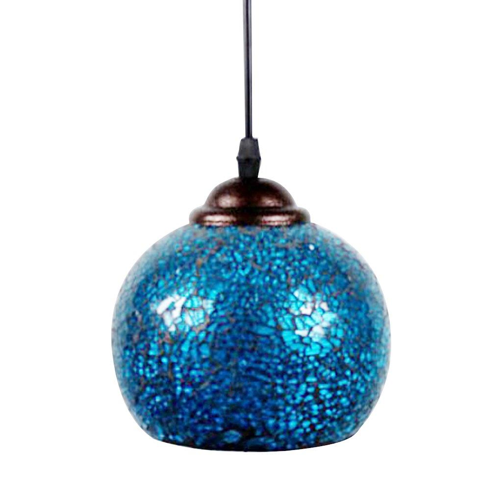 MagiDeal Abat-jour Lampe Suspendu Mosaïque Cage en Verre Lustre Décoration Maison Hôtel E27 - 1#