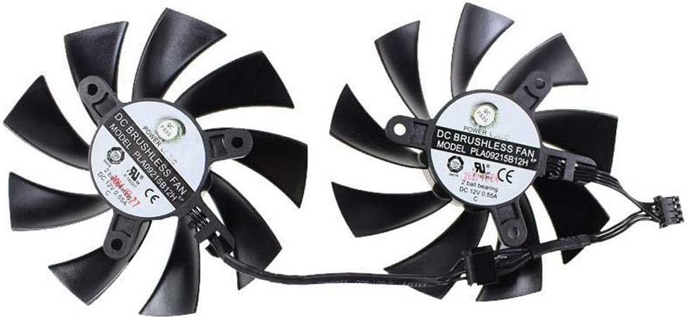 86mm PLA09215B12H 12V 0.55A 4Pin Cooler Fan Replacement for EVGA GeForce GTX 760 770 780 780Ti Graphics Video Card Cooling Fan