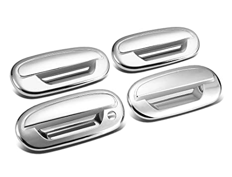 For Ford F-150 97-03 Chrome 4 Doors Handles Covers W//Out Passenger Keyhole