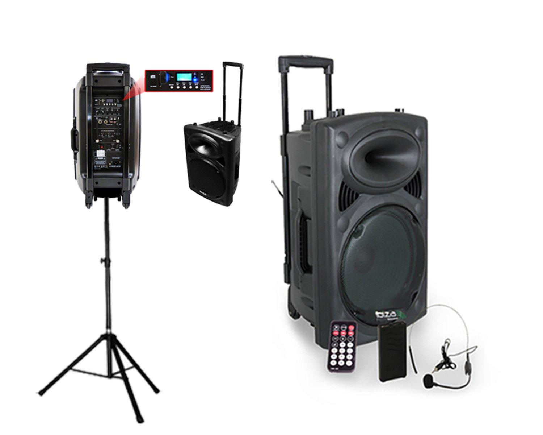 Ibiza Sound PORTVHF BT  Soporte para altavoces Megafonía portátil pulgadas
