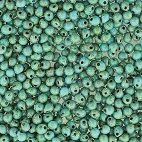 - Seafoam Matte Picasso Miyuki 3.4mm Fringe Seed Bead Glass Drops 25 Gram
