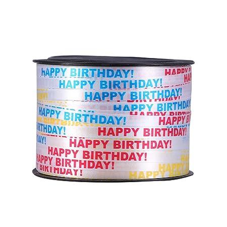 SUPVOX 100 Yardas Cinta de Rizado Feliz cumpleaños Fiesta ...