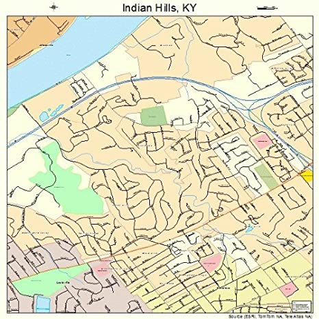 Amazon.com: Large Street & Road Map of Indian Hills ...