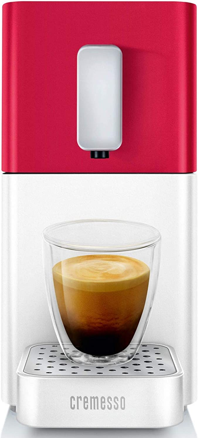 Cremesso Easy Heart Red & Shell White - Cafetera de cápsulas ...