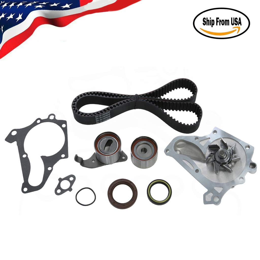 Miklan Timing Belt Water Pump Kit Valve Cover Gasket 3SFE 5SFE Fits 1987-2001 Toyota 2.0