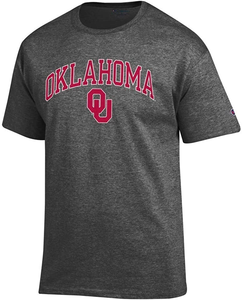Elite Fan Shop NCAA Mens Short Sleeve T-Shirt Charcoal Arch