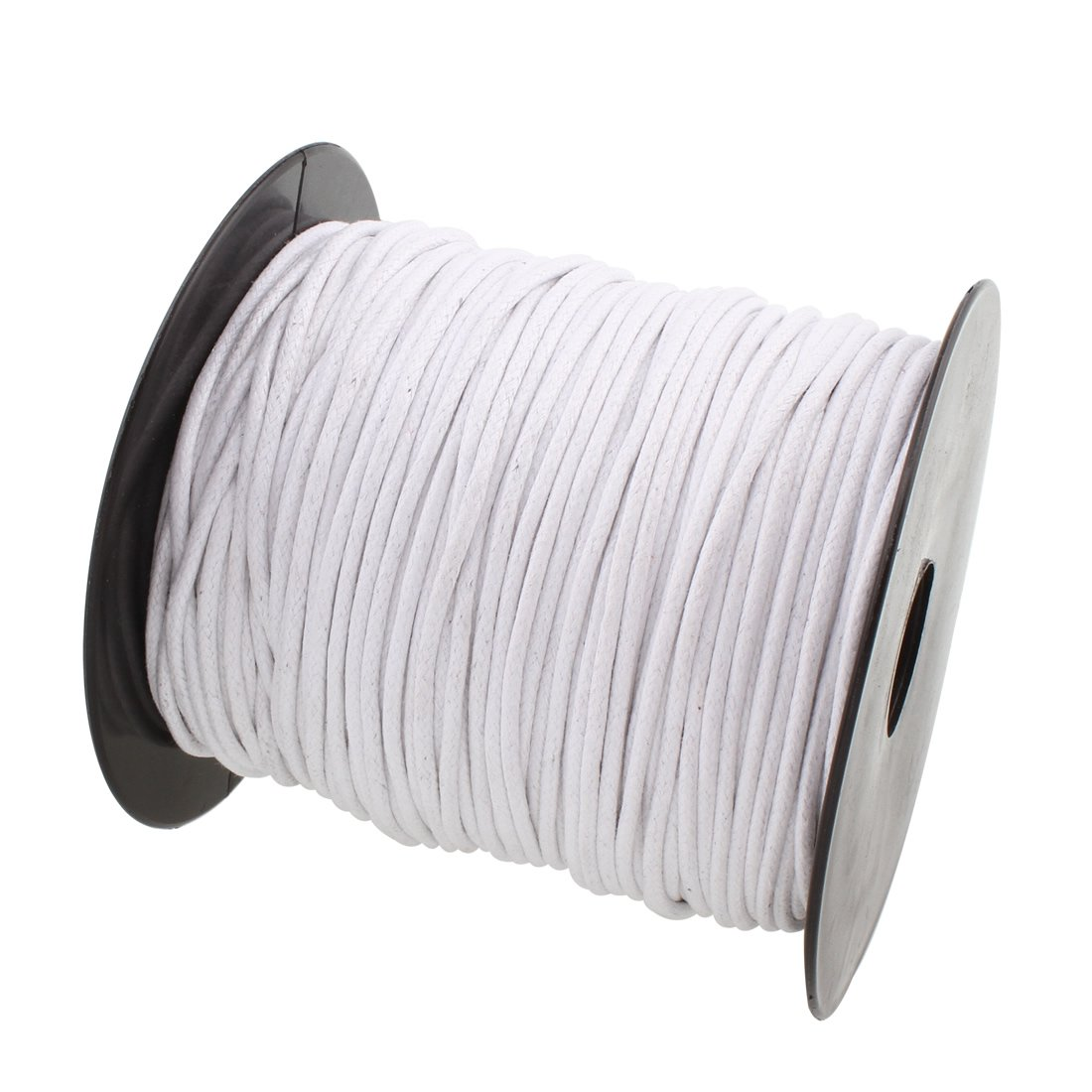 2mm 100Yards Waxed Thread Cotton Cord Plastic Spool String Strap Necklace Rope Bead For Necklace Bracelet DIY Making (Black) Comeon